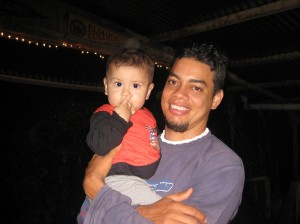 Javier, the owner of Villas Mastatal, and his son Andres.