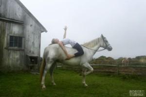 ariel yoga horse
